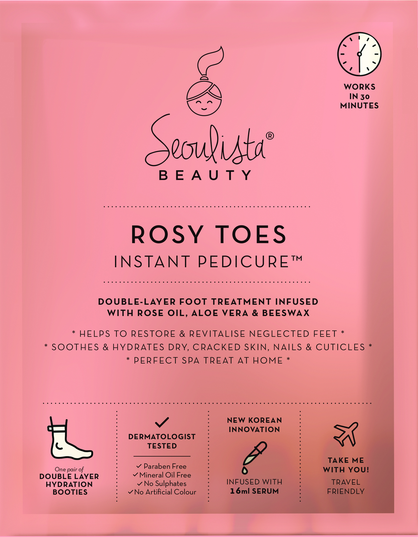 Seouista Beauty Rosy Toes Instant Pedicure