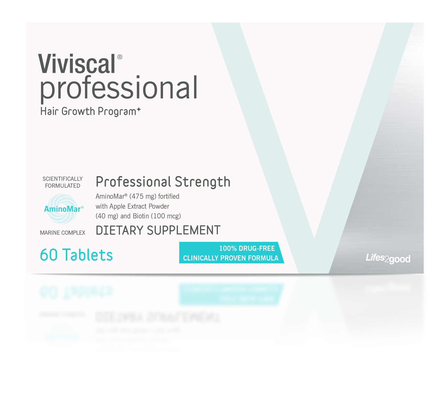 Viviscal PRO Advanced Hair Health Professional Strength 1 Month Supply 60 Tablets