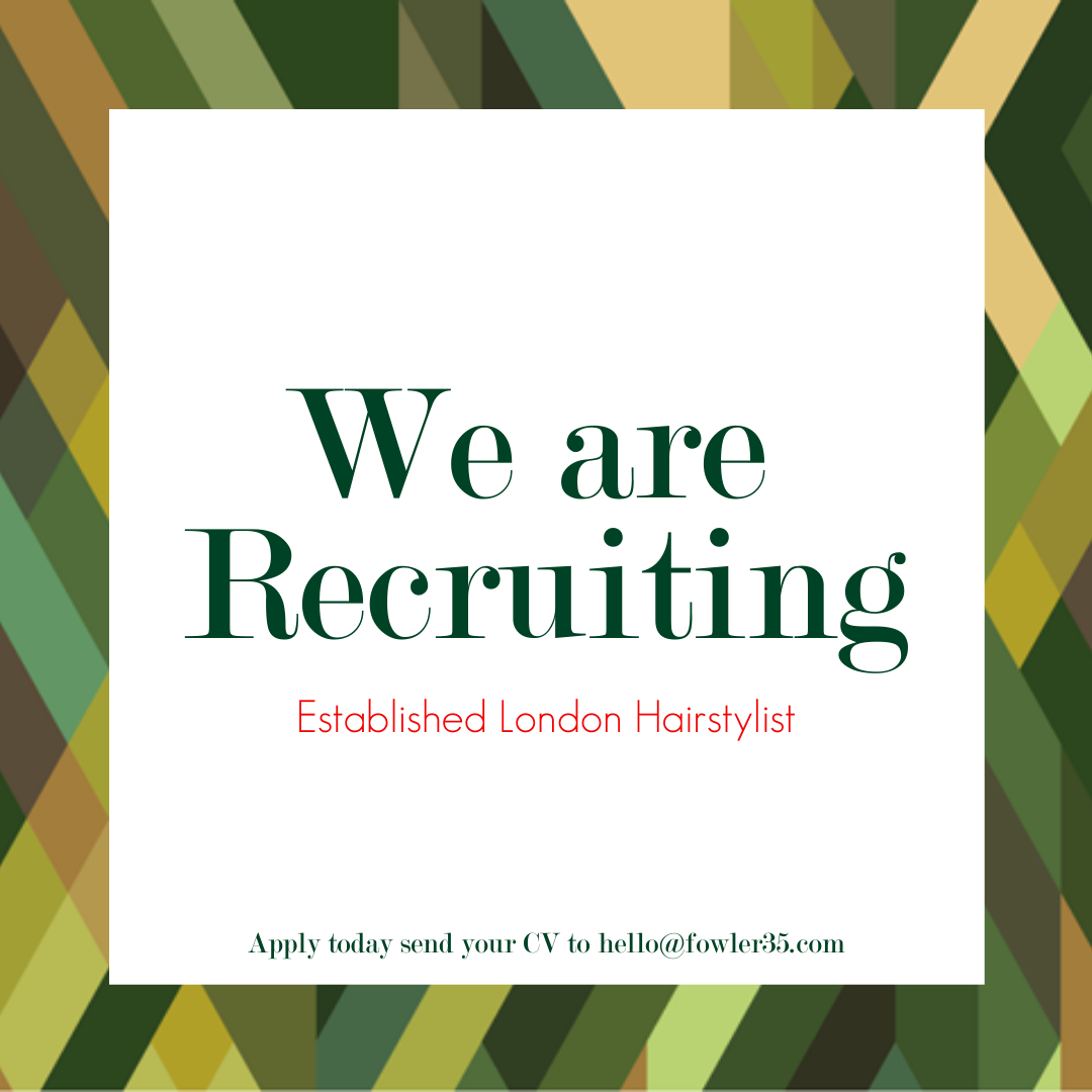 Fowler35 London hair Salon Jobs